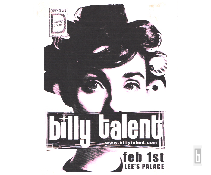 Billy Talent Roller Girl Original Poster 2001
