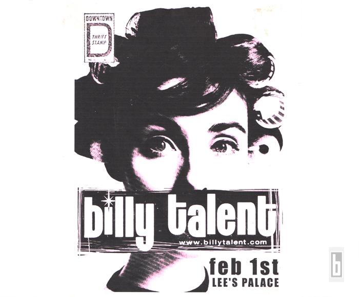 Billy Talent Roller Girl Original Poster 2001