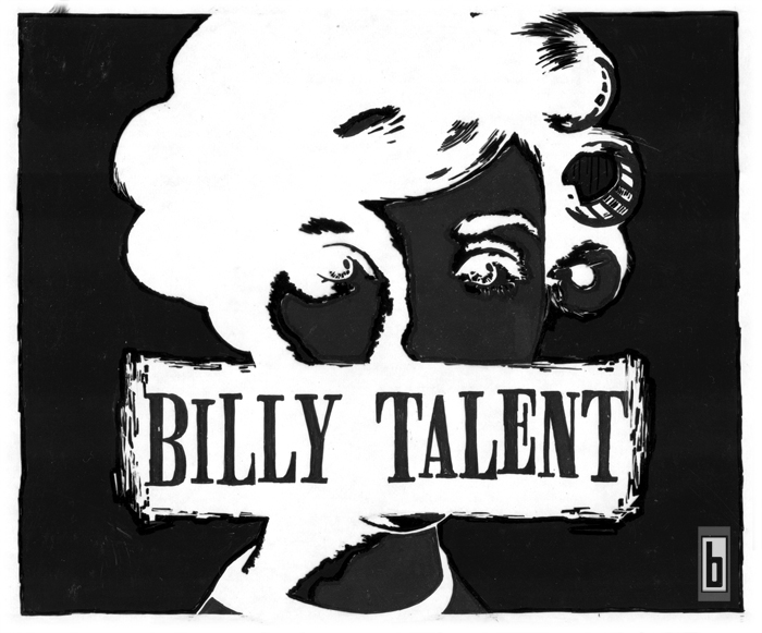 Billy Talent Roller Girl T Shirt Layout 2003