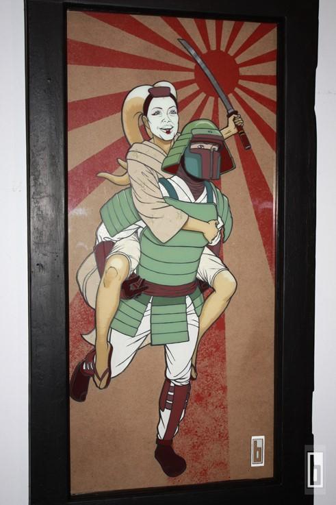 Bobafett Samurai painting 2012