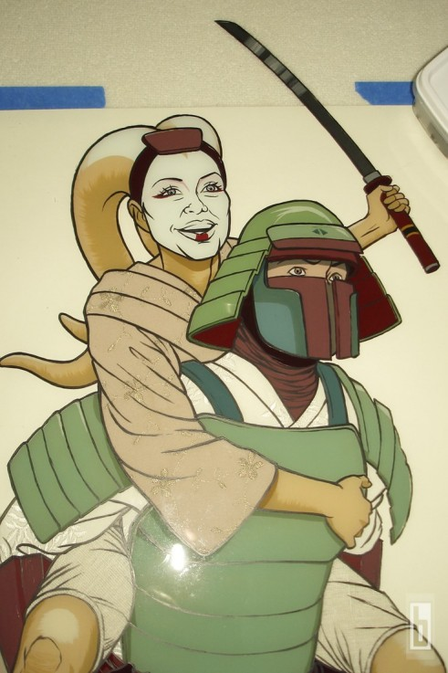 Bobafett Samurai painting making of 03
