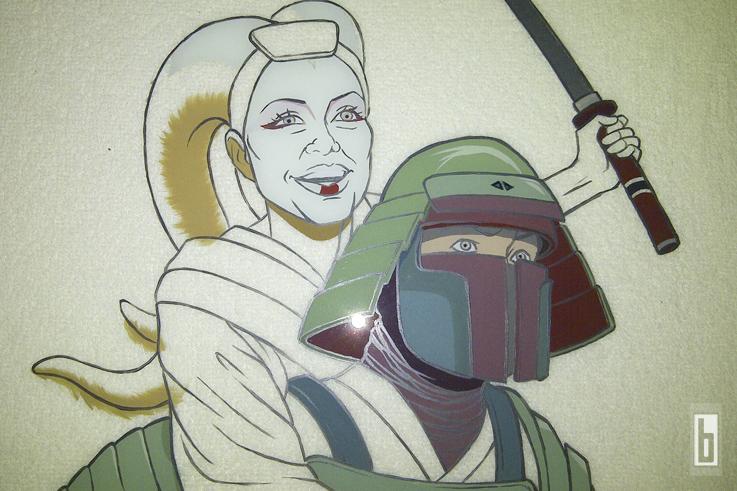 Bobafett-Samurai-painting-making-of-04