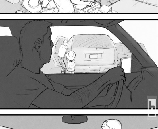Canadian Tire Parking Lot storyboards by bowmanitis