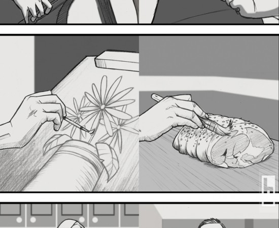 Maple Leaf Butcher storyboards by bowmanitis