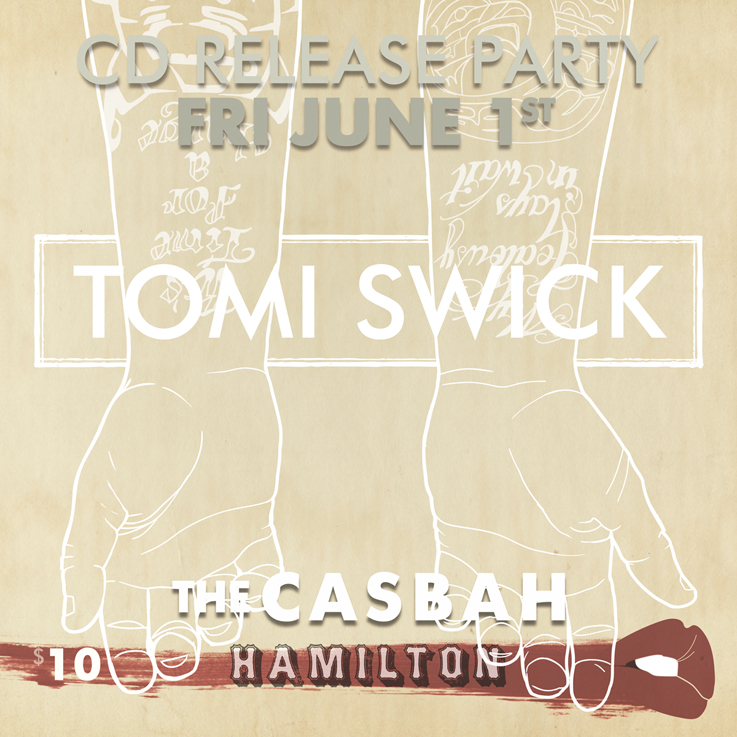 Tomi Swick CD Release Poster 2012