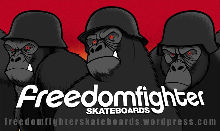 Freedom Fighters Skateboard Gorilla Design 2009