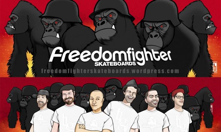 Freedom Fighters Skateboard Gorilla TLG Skateboard Design Layout 2009