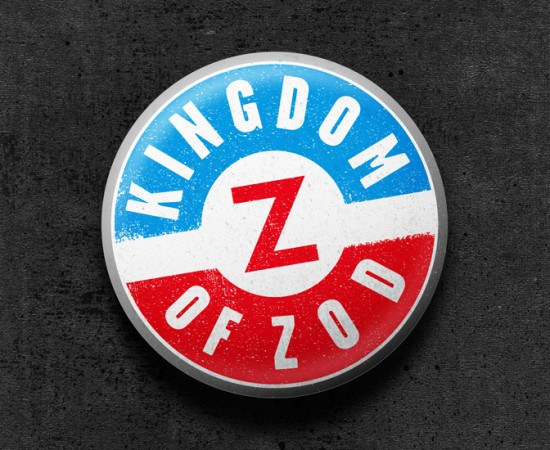 Kingdom of Zod button graphic by Bowman 2014