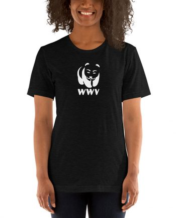 Woman wearing WWV T-shirt