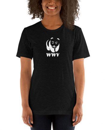 Woman wearing WWV T-shirt