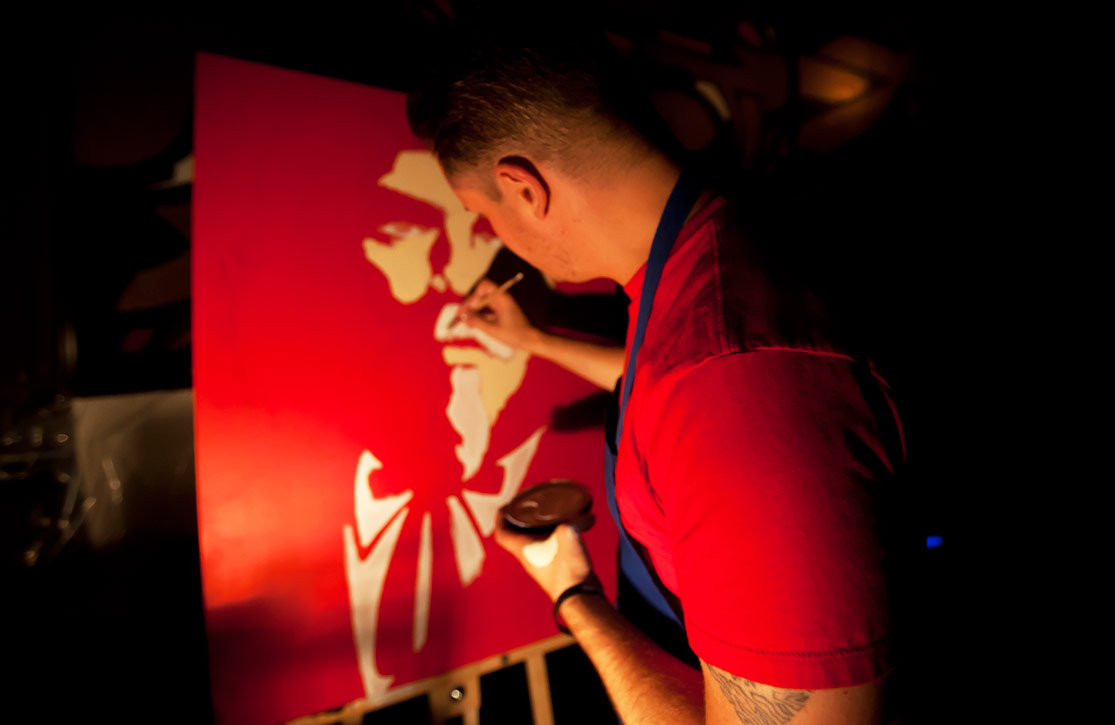 Bowman Live painting KFChe 2012
