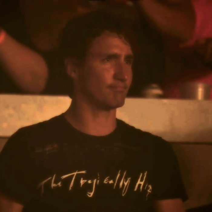 Justin Trudeau at a Tragically Hip concert