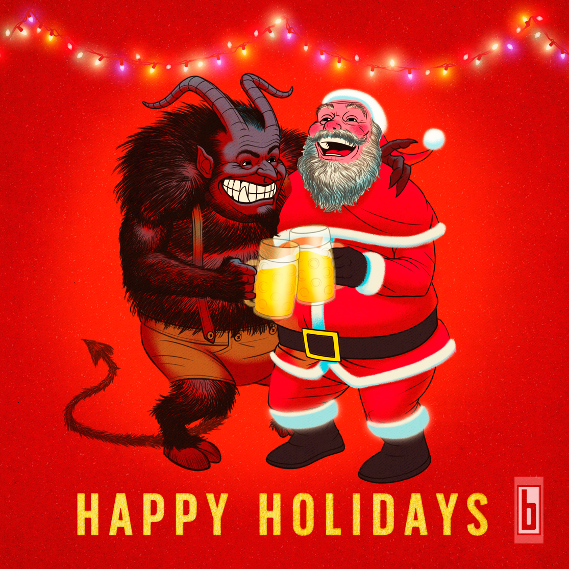 Krampus & Santa Happy Holidays Full