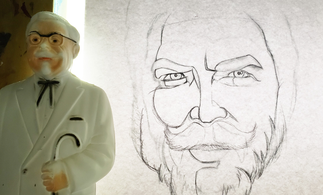 KFChe Sketch & The Col piggybank